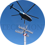 Helicopters - Ski lifts: towers, tramways, cement, and equipment